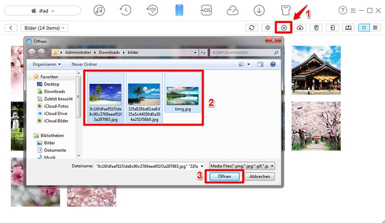 Fotos vom Computer aufs iPad rasant - Schritt 3