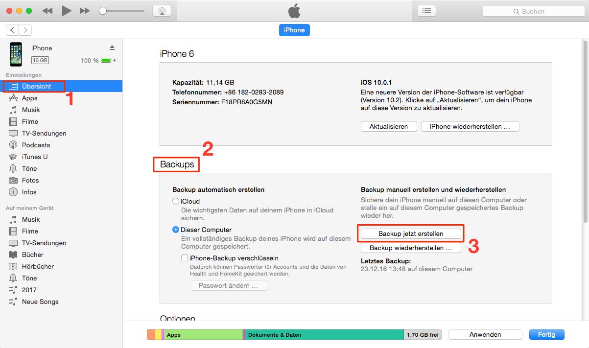 Apple iphone 5 fotos videos übertragen auf notebook