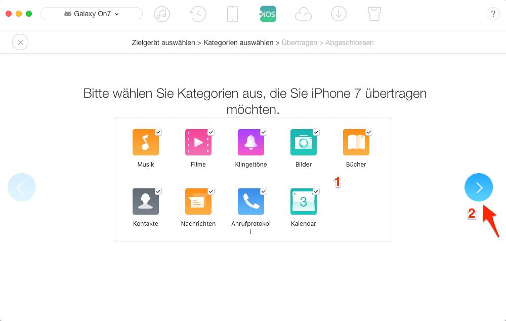 Wechseln von Android auf iPhone 7 – Schritt 4