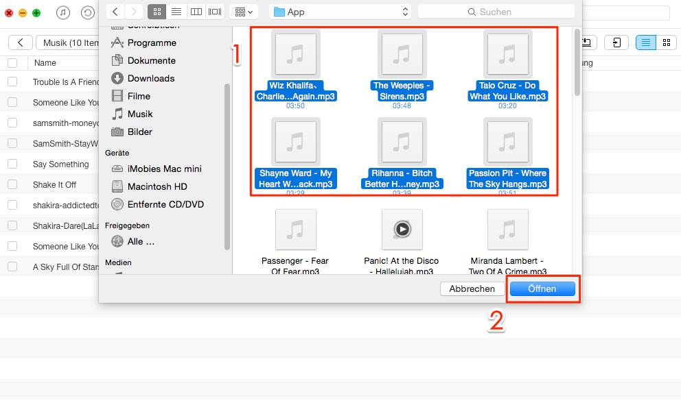 Musik auf iPod laden ohne iTunes – Schritt 2