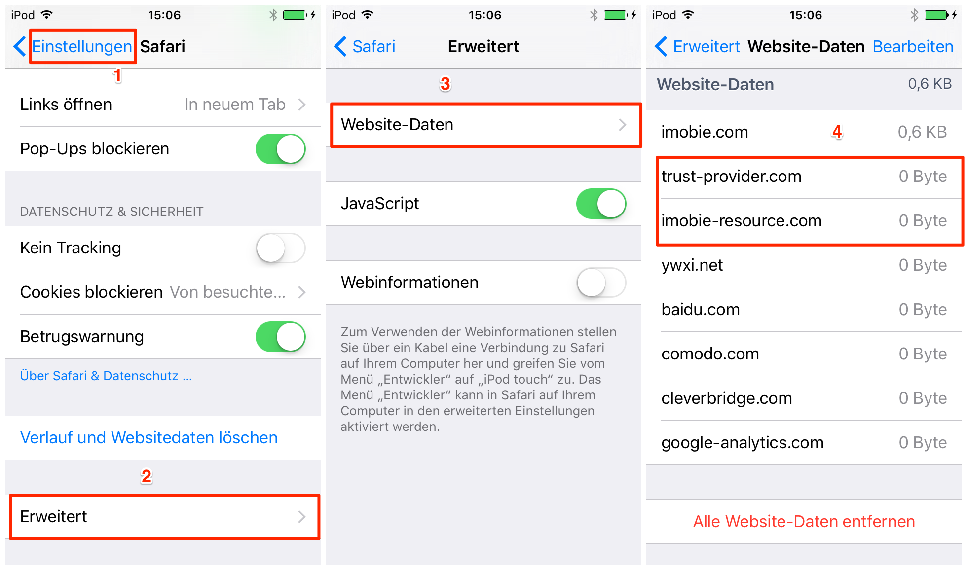 iPhone/iPad: Gelöschten Safari Verlauf wiederherstellen