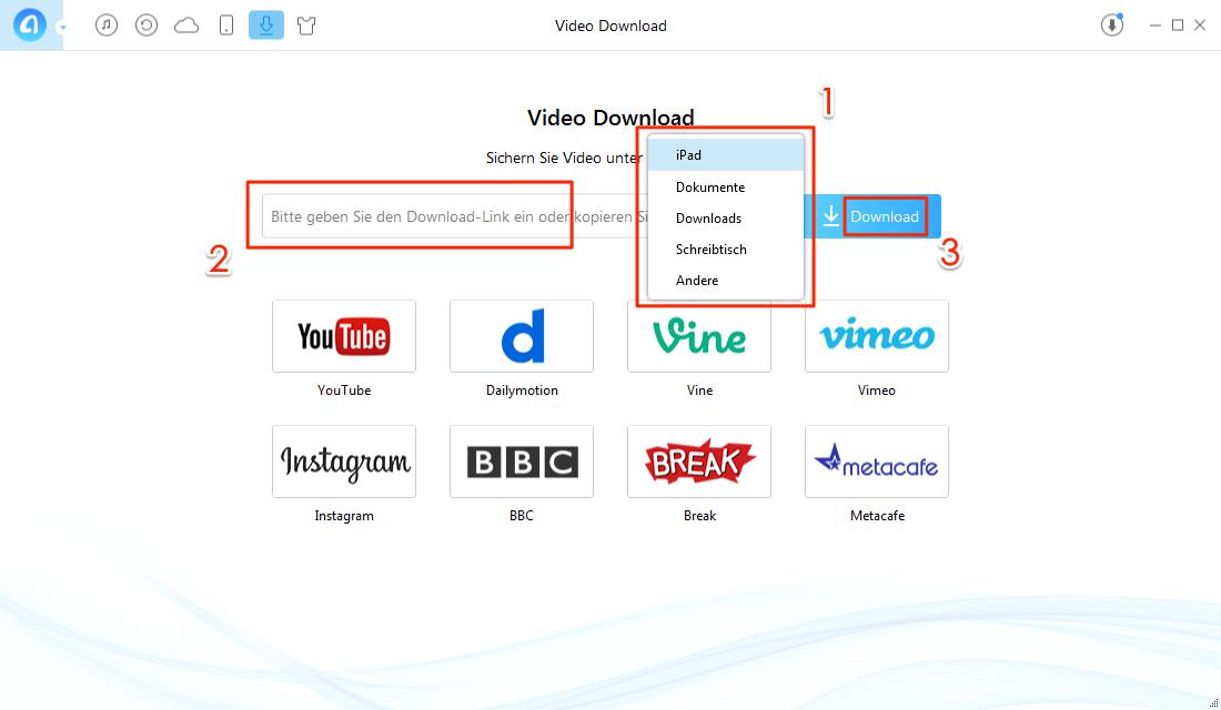 gewünschte Videoclips durchsuchen – Schritt 2
