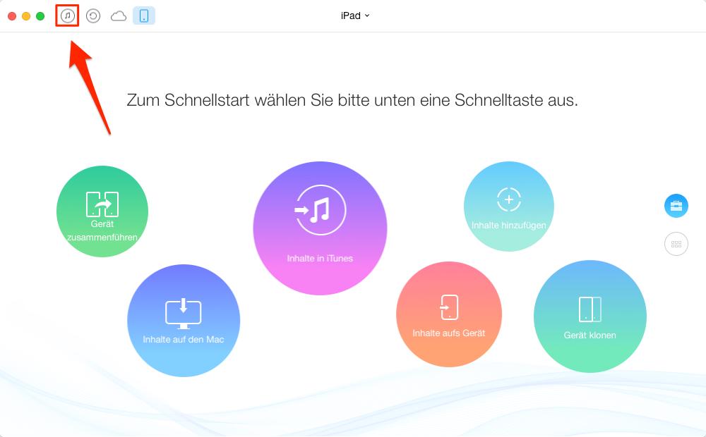 iTunes Videos auf iPad übertragen – Schritt 1