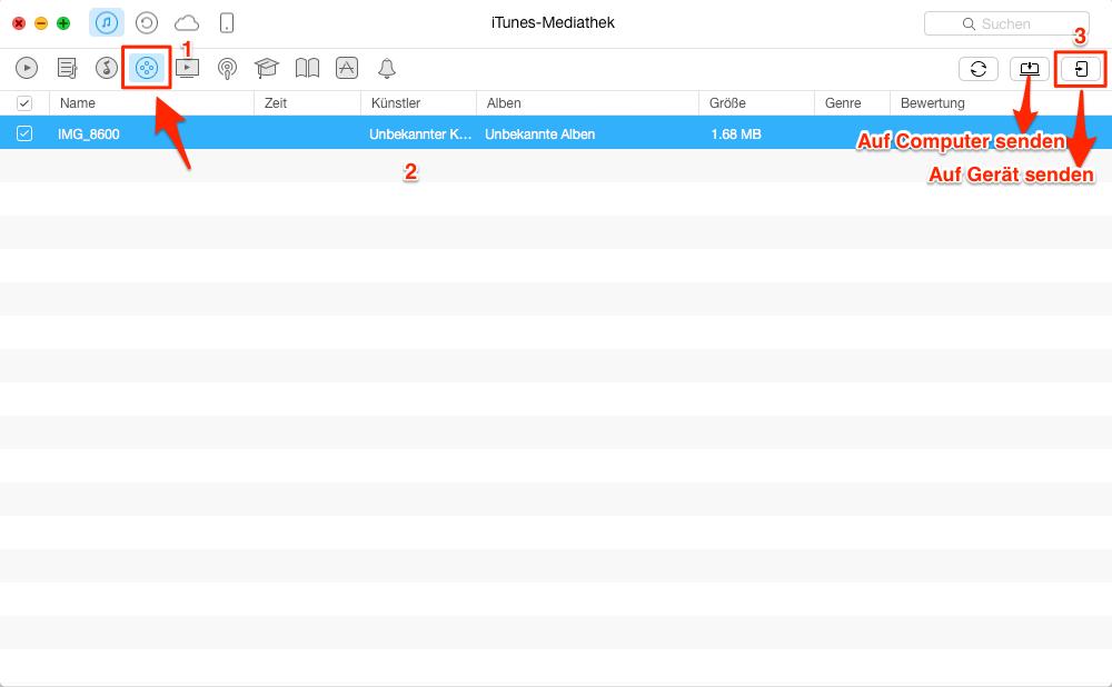 Filme auf iPad übertragen, ohne iTunes – Schritt 2