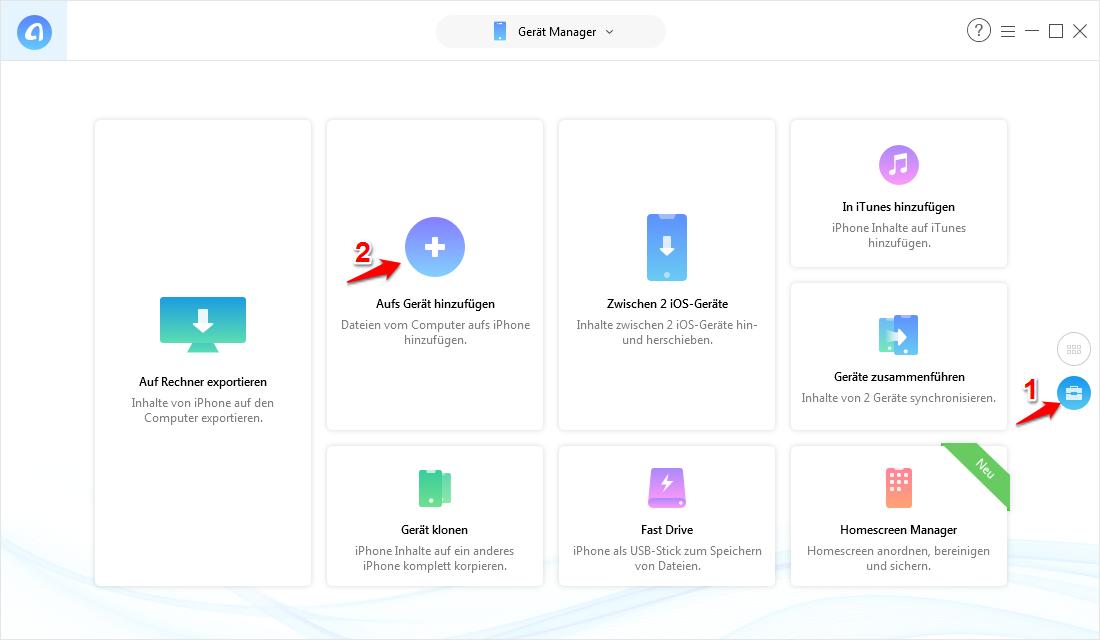 Bilder und Videos importieren mit Windows – Schritt 1