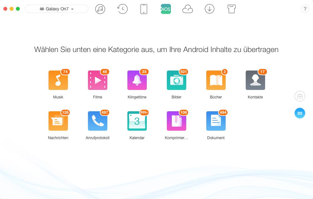 Android auf iOS - Daten von Android auf iPhone übertragen