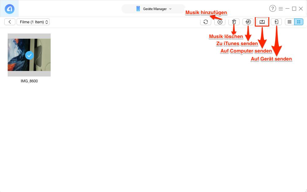 Videos vom iPhone 6s auf Mac übertragen – Schritt 4