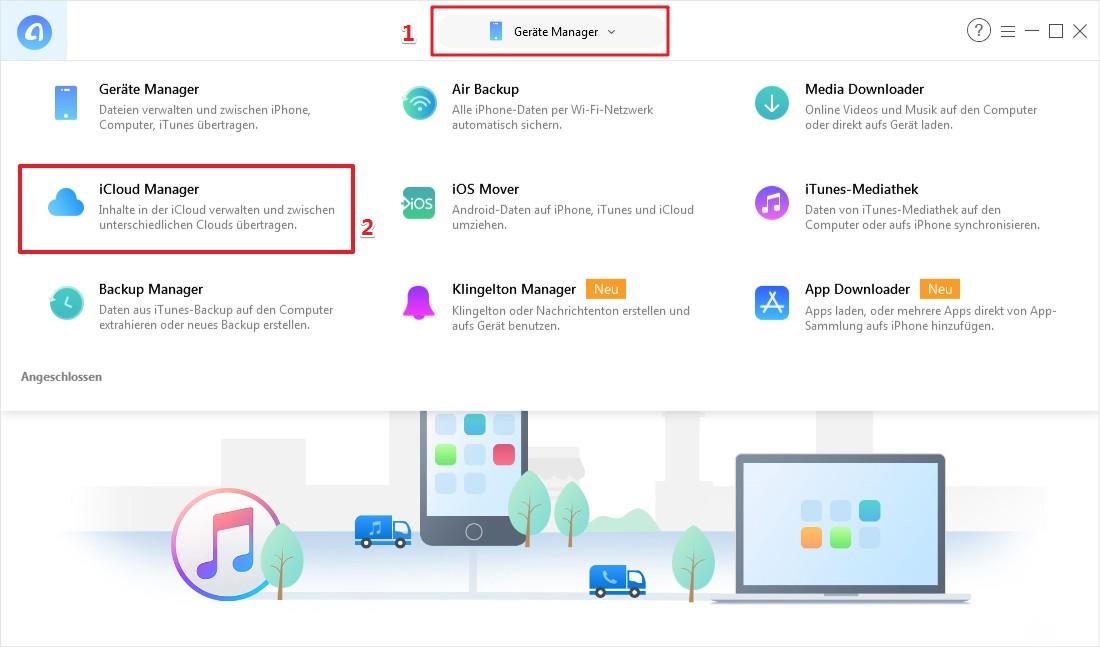 Wie kann man iCloud verwenden - Schritt 1