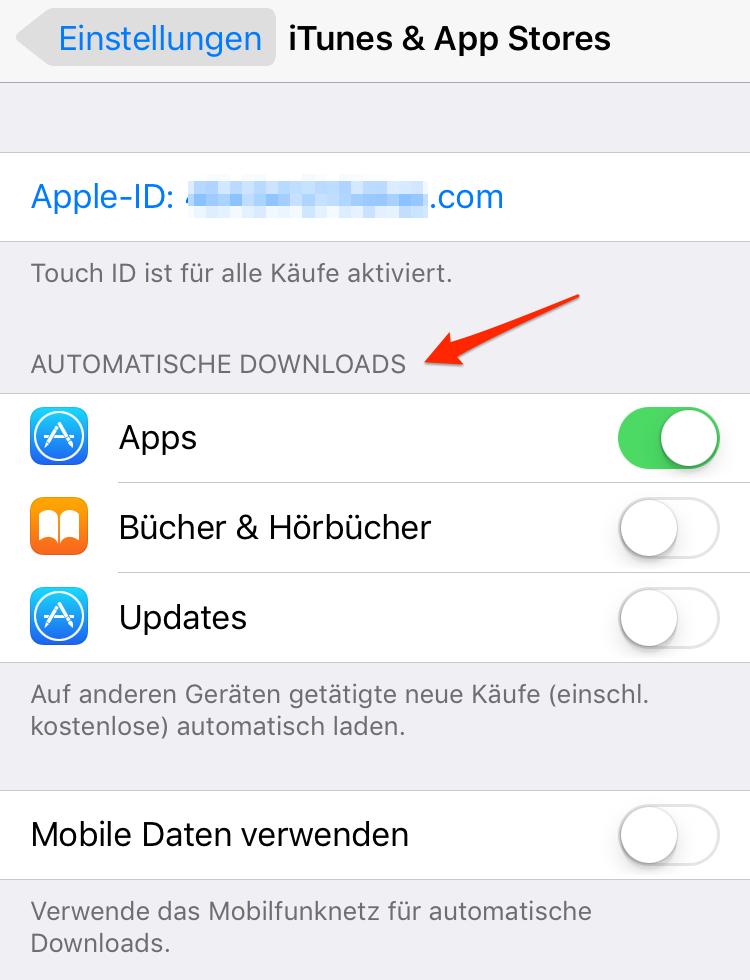 App aktualisieren vor dem iOS-Update
