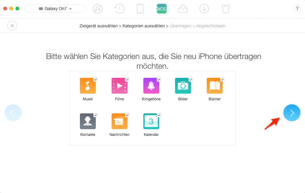 Daten übertragen: Wechseln von Android auf iOS - Schritt 2