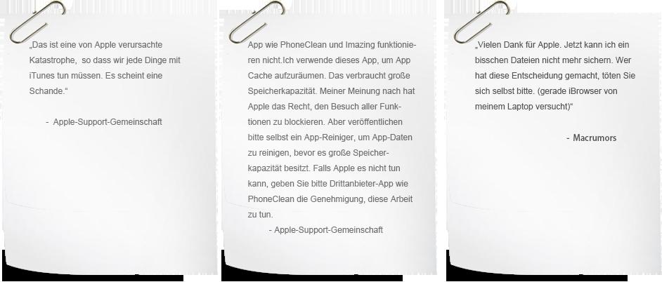Kommentare über iOS 8