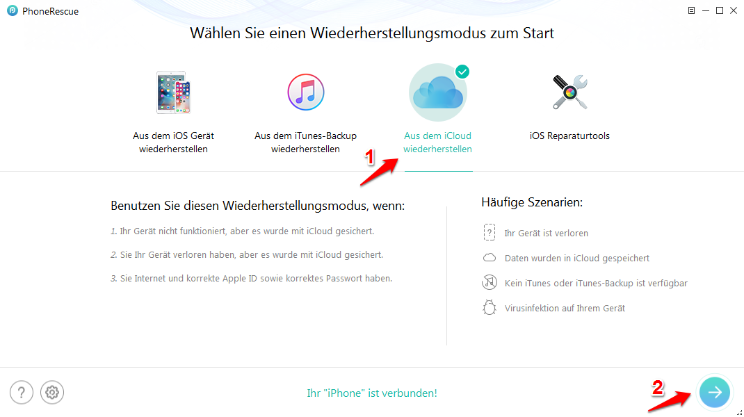 WhatsApp aus Backup wiederherstellen – mit PhoneRescue