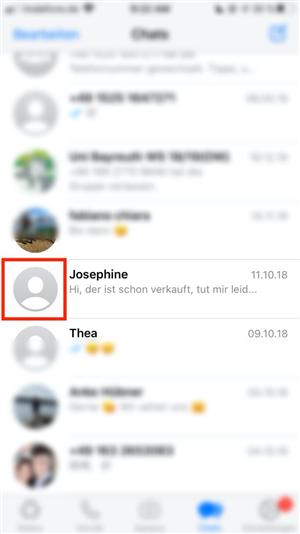 Blockierte sehen whatsapp profilbild kontakte whatsapp blockiert