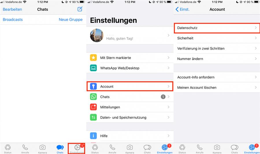 Whatsapp Kontakt blockieren und blockiert erkennen