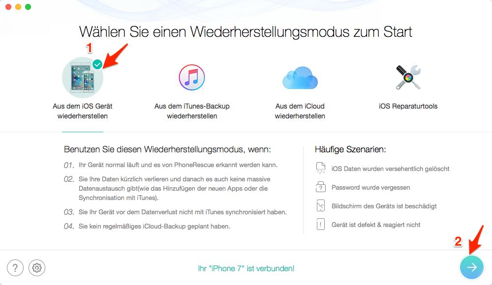 WhatsApp gelöschte Kontakte wiederherstellen – Schritt 1