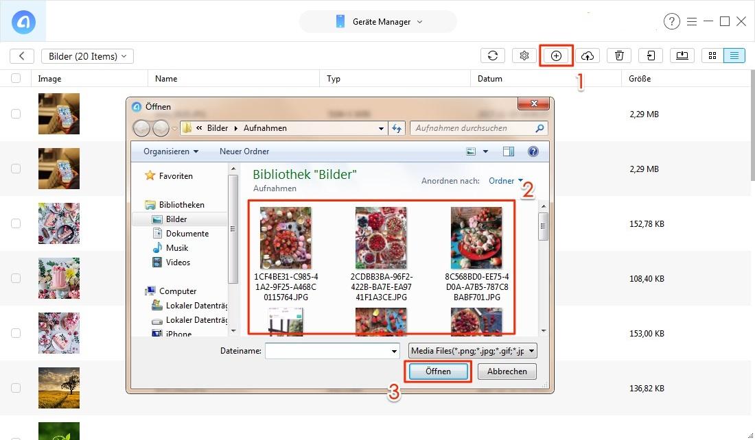 Wie kann man die Bilder vom PC aufs iPad übertragen - Schritt 2