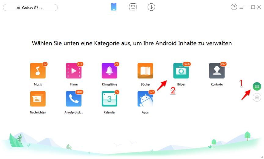 Wie kann ichBilder vom Samsung Handy auf PC übertragen – Schritt 2