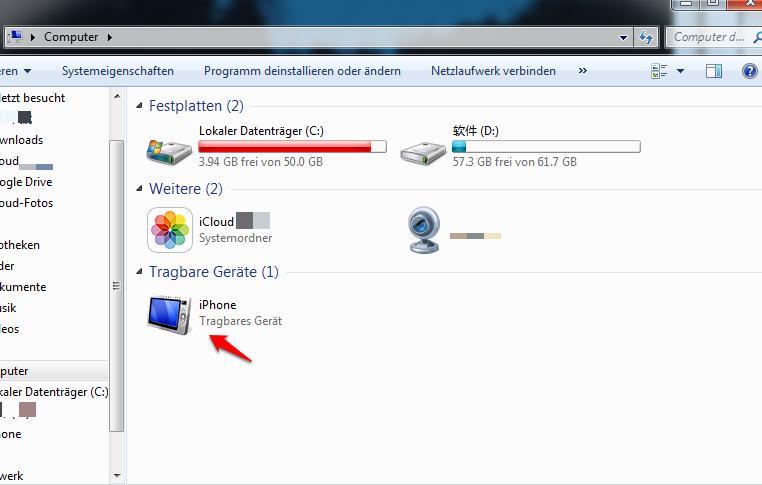 Wie bekomme ich Fotos vom iPhone auf den PC – Mit Windows Explorer