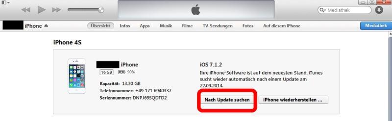 Wie kann man auf iOS 8 erneuern