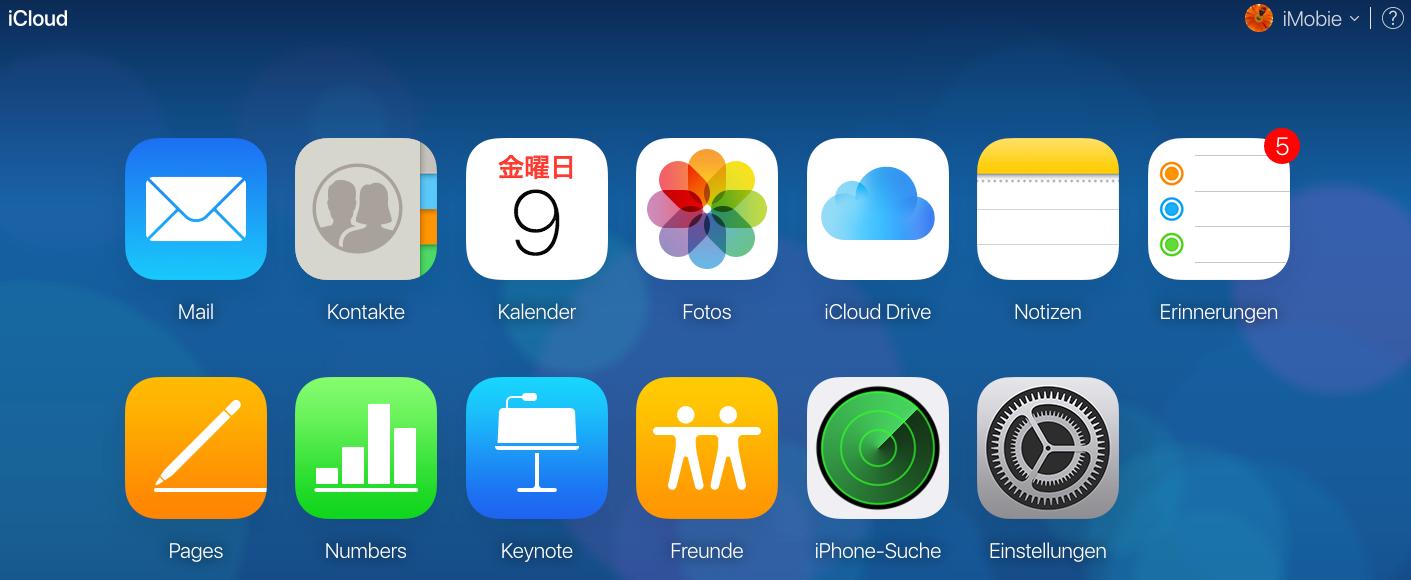 Wie kann ich auf meine iCloud zugreifen - mit icloud.com