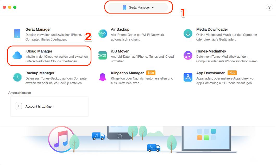 Wie kann man auf iCloud zugreifen - Schritt 1