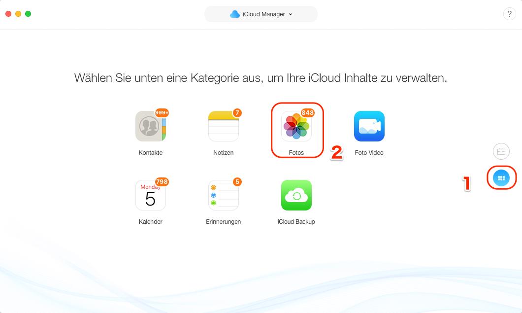Wie kann ich auf meine iCloud kostenlos zugreifen - Schritt 3