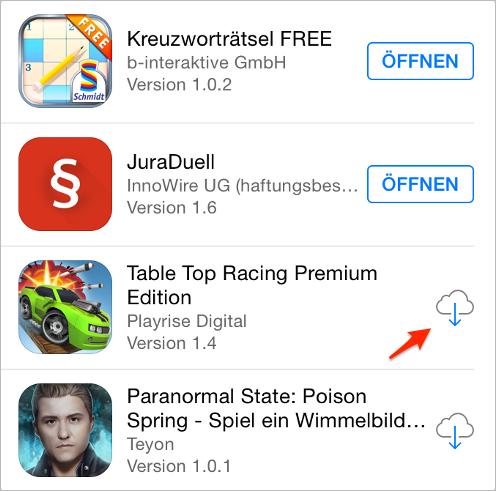 App von iCloud herunterladen