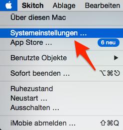 Systemeinstellungen unter Mac wählen - Schritt 1