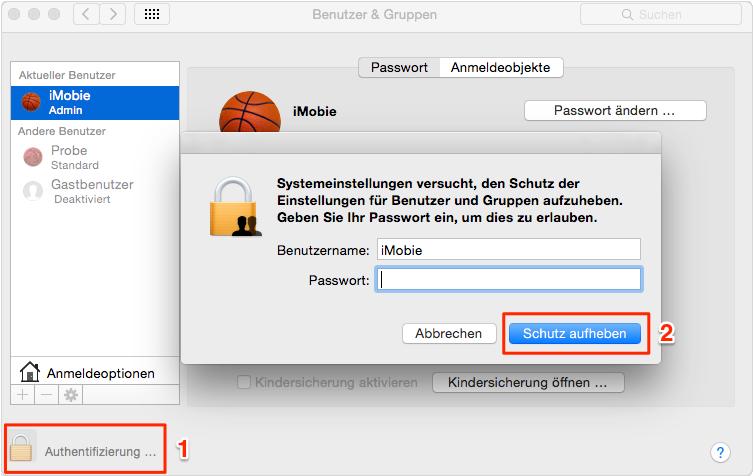 Passwort eingeben - Schritt 3