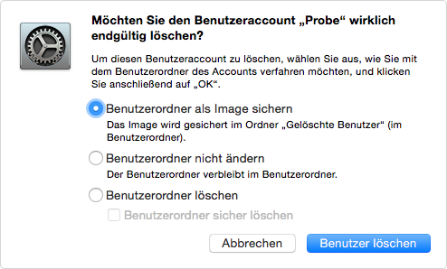 So löscht man Benutzer Account unter Mac - Schritt 5