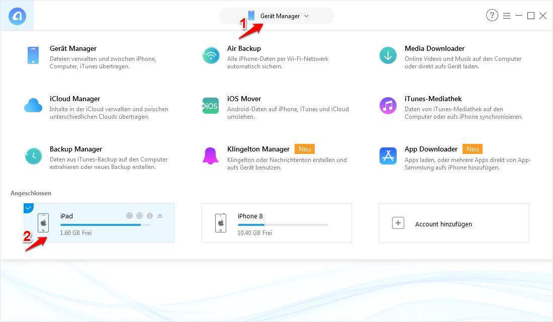 App vom iPad auf iPhone ohne iTunes – AnyTrans verwenden