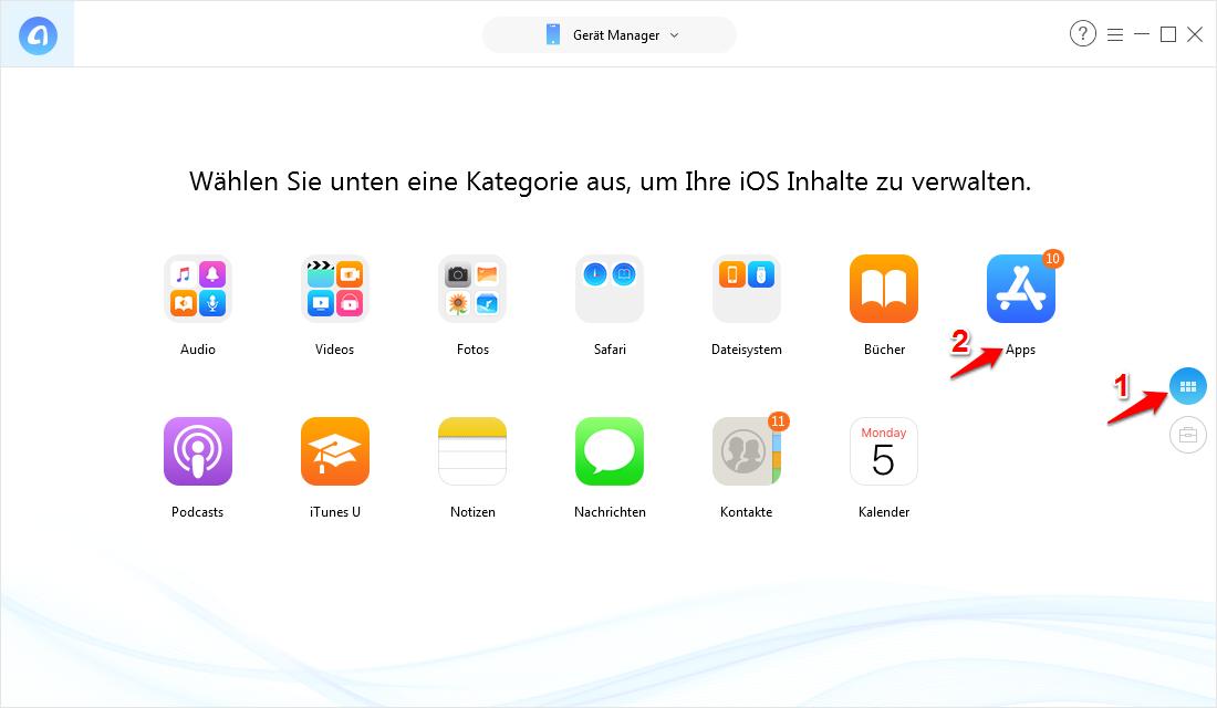 Apps vom iPad auf iPhone übertragen – Schritt 3