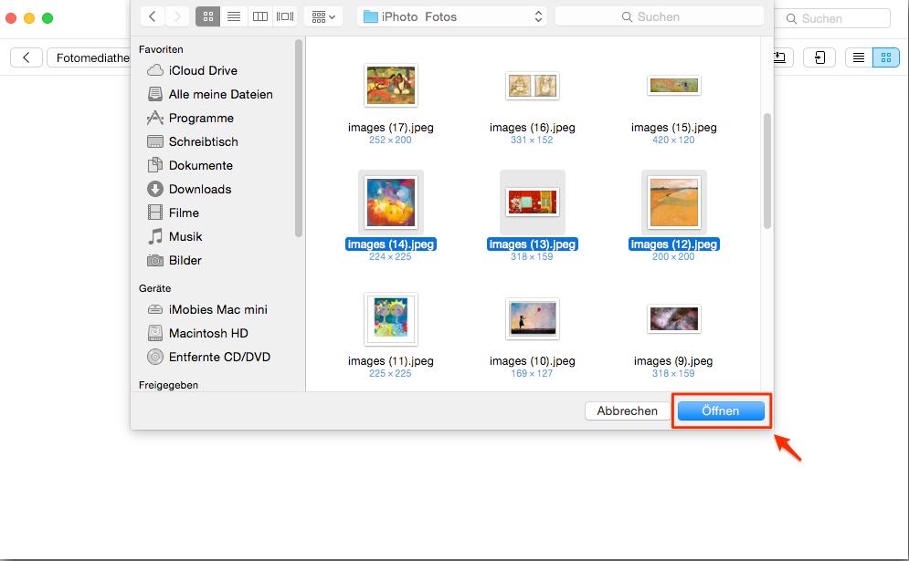 Einfach! Fotos von Mac auf iPhone übertragen – Schritt 3