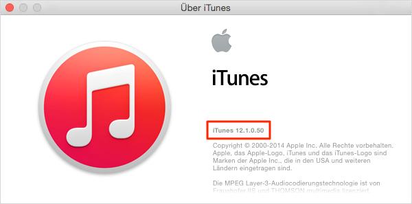auf neuest iTunes erneuern