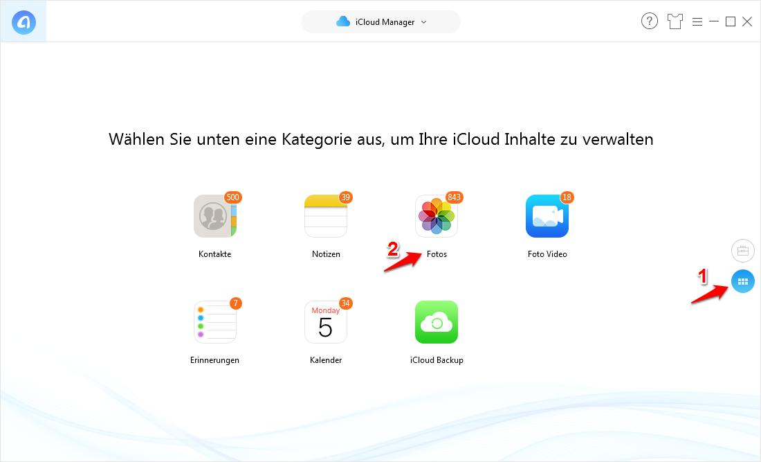 iCloud Fotos auf PC übertragen – Schritt 3