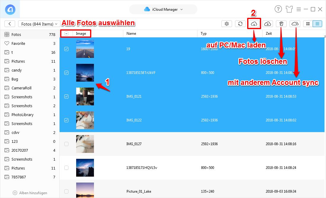 Fotos von iCloud auf PC übertragen – mit AnyTrans