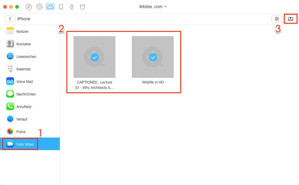 Selektiv! iCloud Videos runterladen - Schritt 4