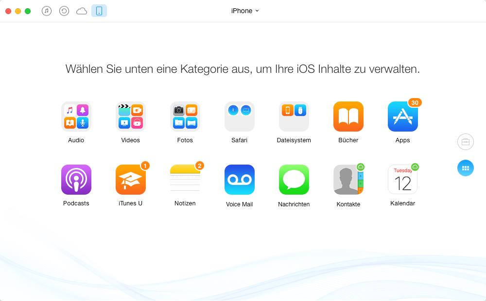 AnyTrans – iOS 10-Gerät schneller machen