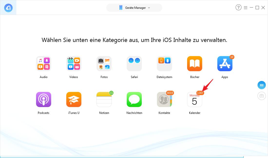 iPhone Kalender am PC bearbeiten - Schritt 2
