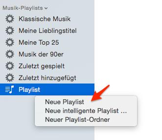 iTunes Playlist erstellen und auf iPhone übertragen