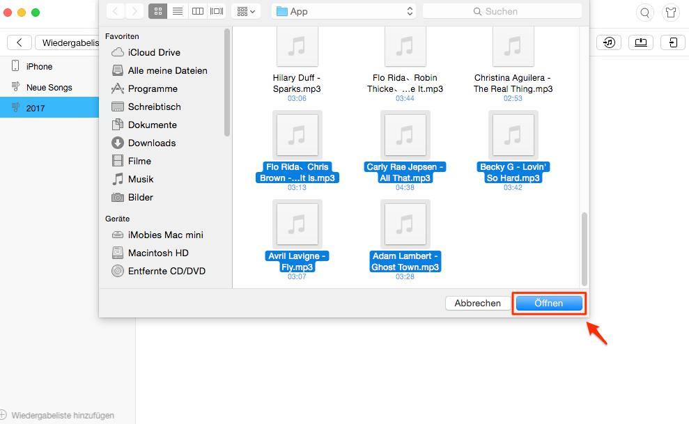 Songs in Playliste hinzufügen – Schritt 3
