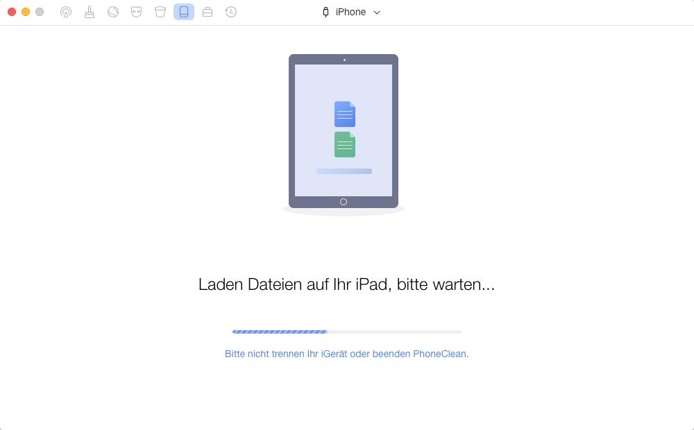iPhone zurücksetzen – mit PhoneClean - Schritt 3