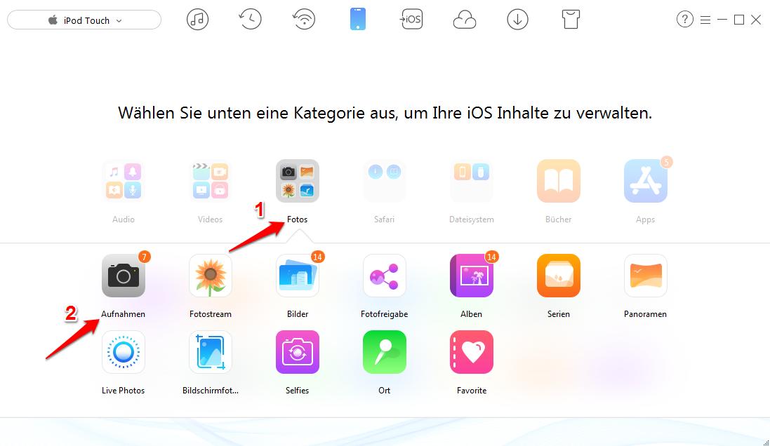 iPod Bilder löschen – Schritt 2