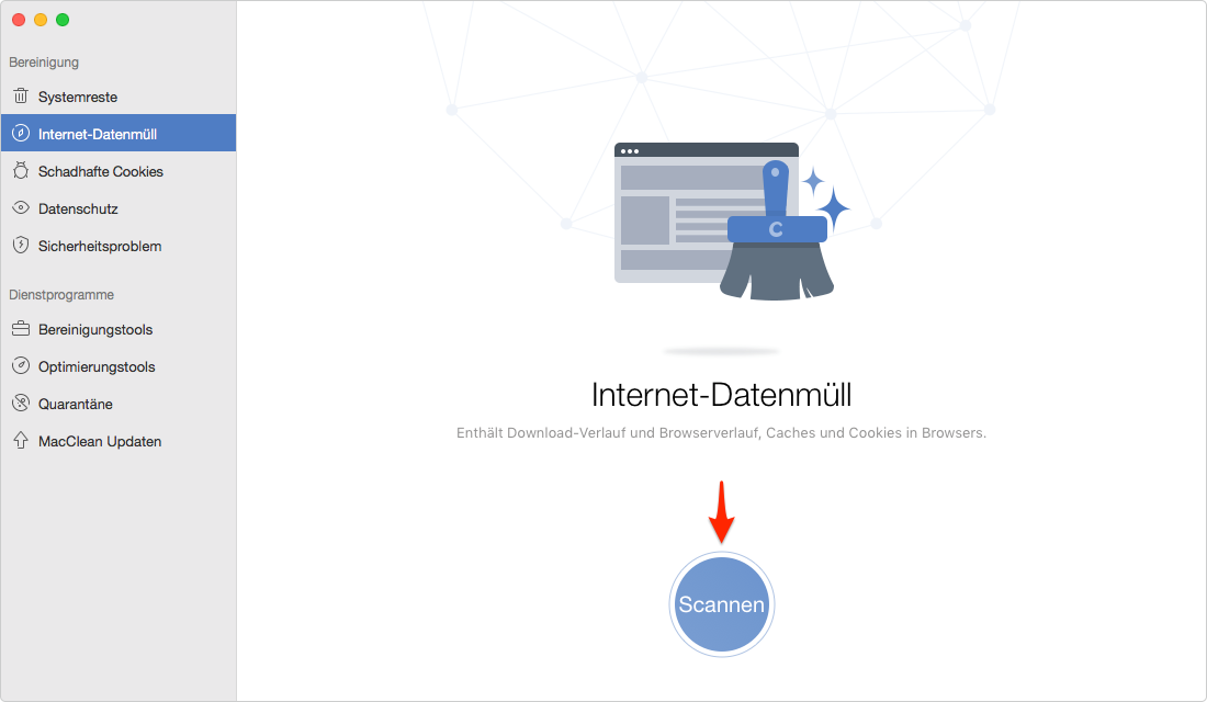 Mac Safari Cookies löschen: Daten scannen – Schritt 3