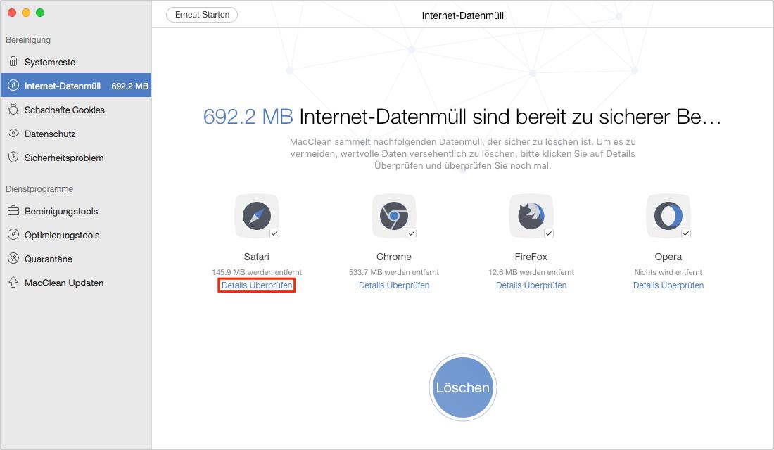 Mac Safari Daten überprüfen – Schritt 4