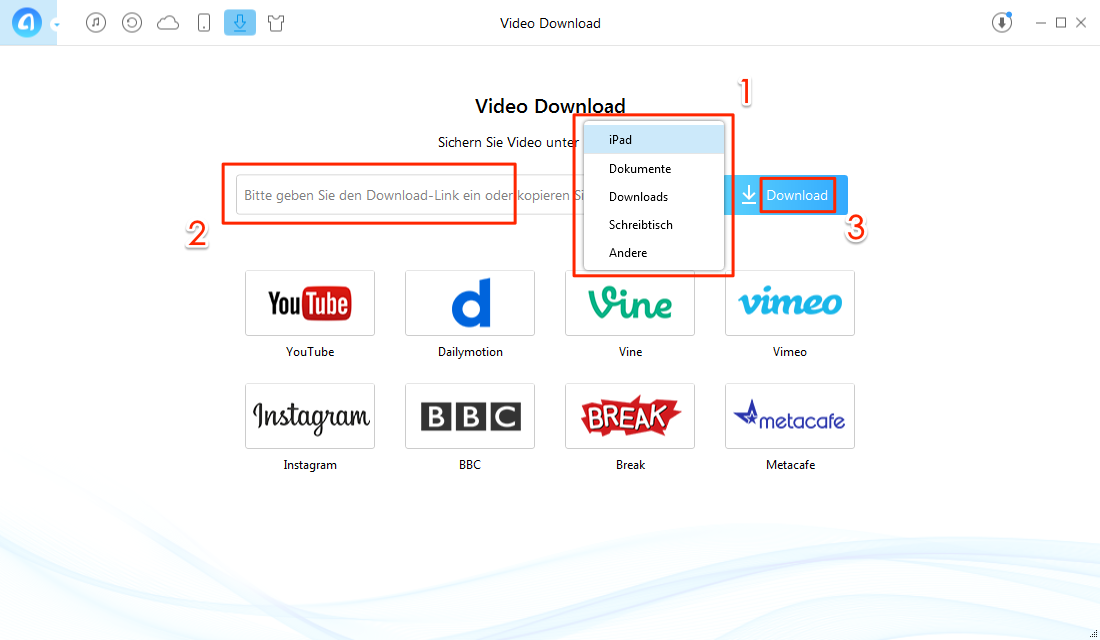 Gewünschtes Videos auswählen oder suchen - Schritt 2