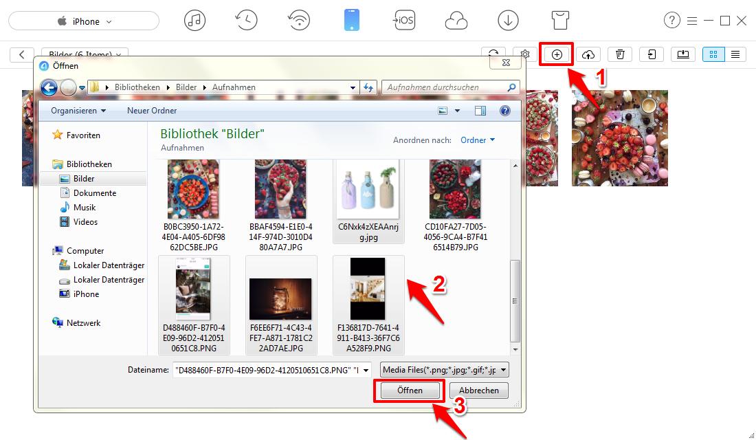 Schnell! Bilder vom PC auf iPhone 6/6s übertragen – Schritt 3