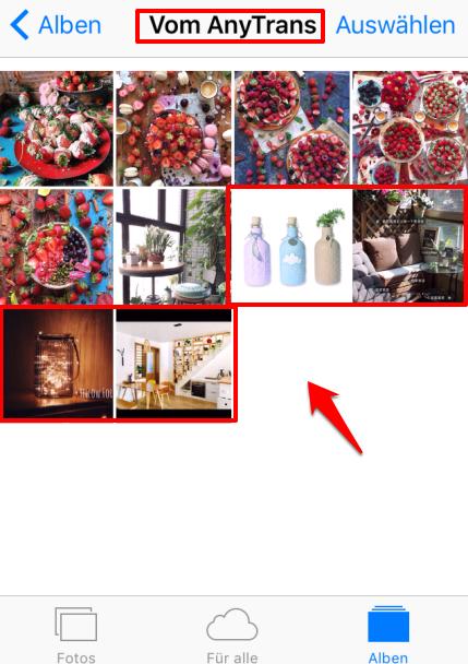 Fotos vom Pc auf ihone 6s/6 – auf iPhone prüfen