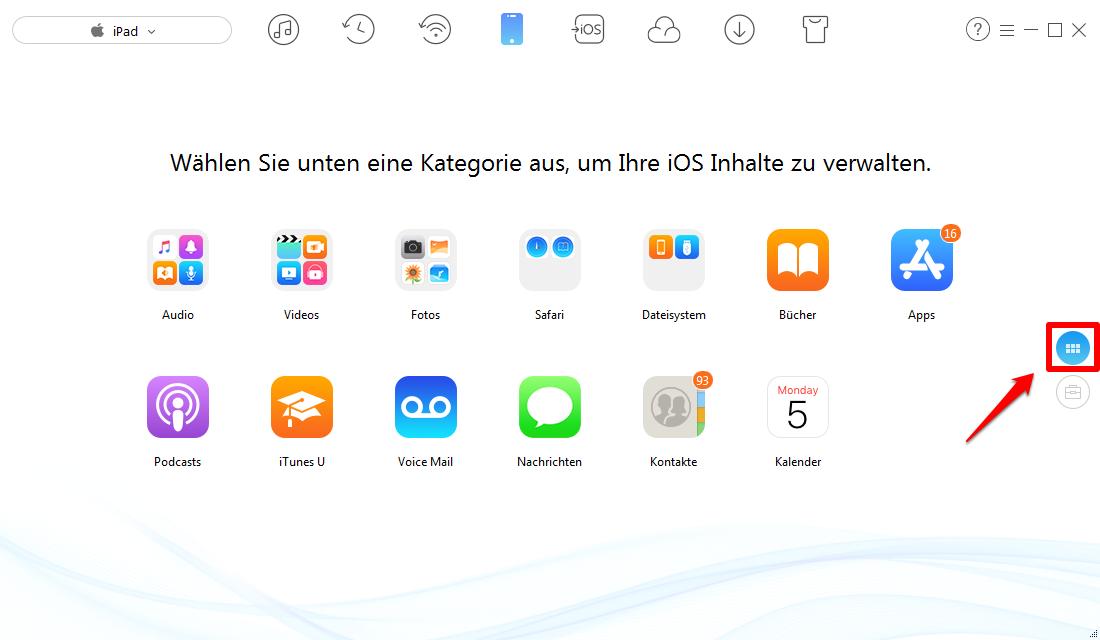 iPad Fotos löschen – Schritt 1