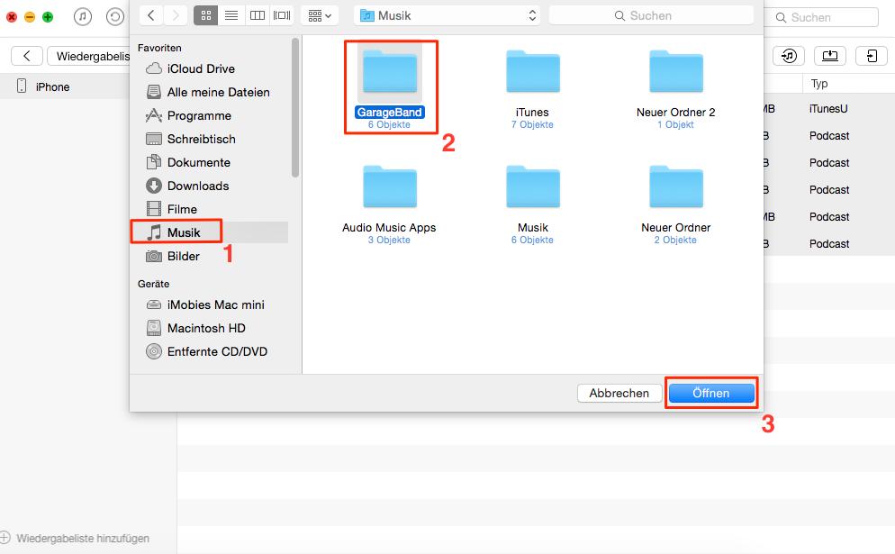 Selektiv! Wiedergabeliste vom Mac auf iPhone übertragen - Schritt 3